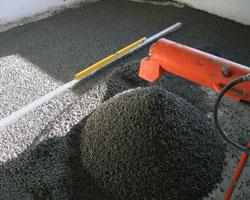 Dettaglio dell'applicazione dell'argilla espansa